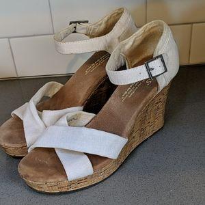 Tom's Wedge Sandals Sz 6.5